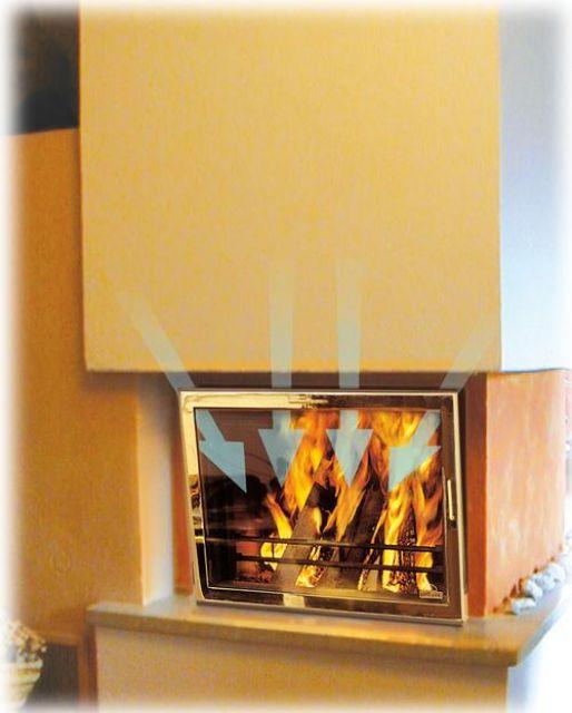Puerta acristalada limpia biofire chimeneas y estufas - Puertas de vidrio para chimeneas ...